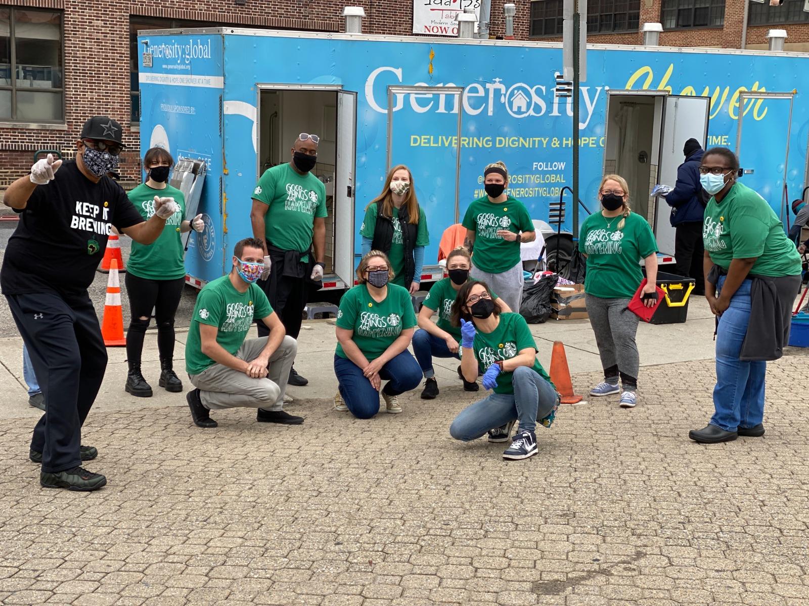 The Starbucks Foundation supports Generosity Shower